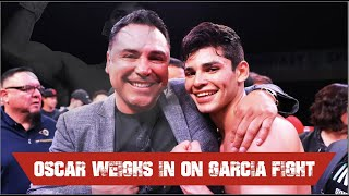 Oscar De la hoya says that Ryan Garcia versus Luke Campbell is not done