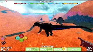 NOVO ALBINO TERROR REMODEL! + CODES! (Dinosaur Simulator #5) - Roblox -