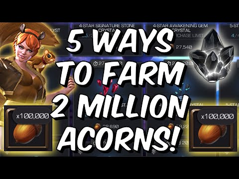 This Months Event Is AWESOME! - 5 Ways To Farm 2 Million Acorns - Marvel Contest Of Champions