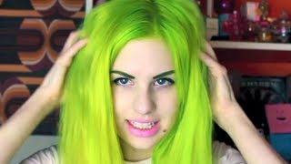 Lime Green Hair Transformation! | All Dolled Up