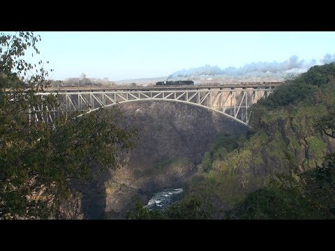 Zimbabwe - Garratt over the Victoria Falls Bridge (1), July 2017