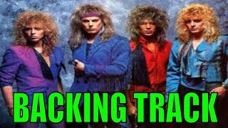 George Lynch Guitar Backing Tracks Exercise | Dokken | Under Lock and Key | (Key-E)