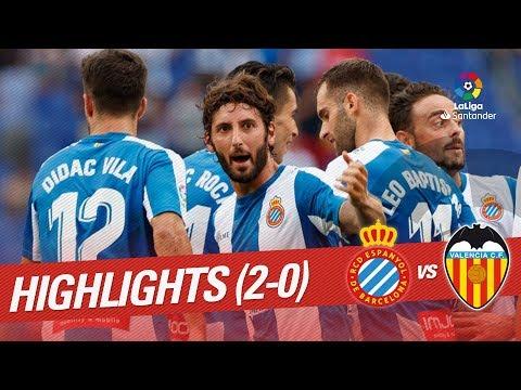 Resumen de RCD Espanyol vs Valencia CF (2-0)