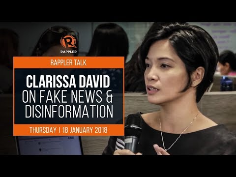Rappler Talk: Clarissa David on fake news and disinformation