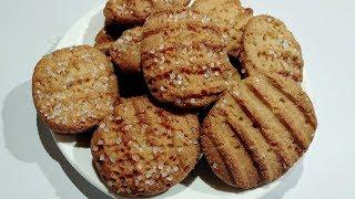 Atta Biscuit Recipe   बिना ओवन बिना बेक किये आटे के बिस्किट  Whole Wheat Biscuit Recipe Without Oven