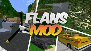 Cars & Planes in Minecraft - Flans Mod Showcase