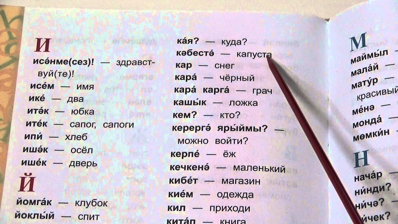 Татарско турецкий словарь