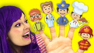 Finger Family Professions Song for Kids Learn Jobs  | Simple Nursery Rhymes by Lily Fresh