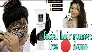 Facial Hair Remove at home FacialHair BePositiveAnju Good Vibes Activated Charcoal peel of Mask