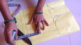 Fashion designer one tuks (simple blouse) paper cutting