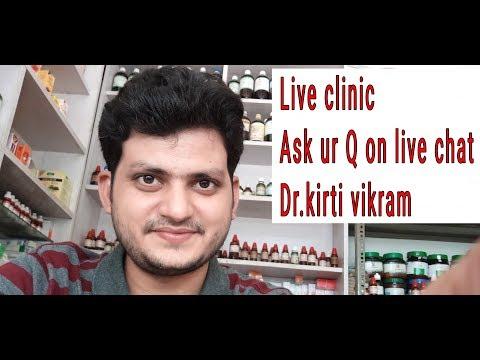 Dr kirti vikram singh LIVE CLINIC ASK UR PROBLEM#200 8/11/17
