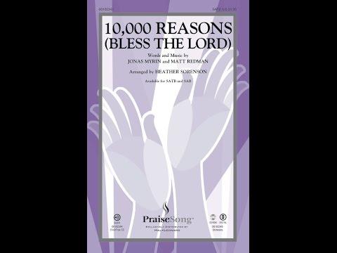 10,000 REASS BLESS THE LORD SATB   Matt Redmanarr Heather Sorens
