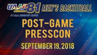UAAP 81 MB: Post-game Presscon | September 19, 2018