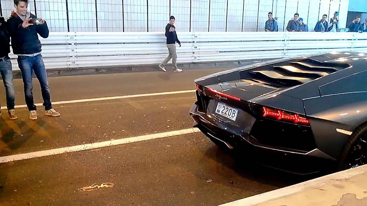 Lamborghini Aventador HUGE BACKFIRE   YouTube