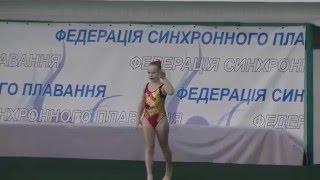 Чемпіонат України 2016. Соло. Довільна програма. Одеська область-1