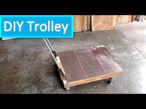DIY Trolley Cart Using Recycled Materials