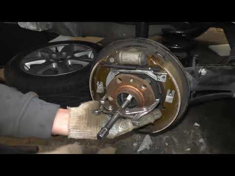 Как снять заднюю ступицу на VW Polo Sedan и Skoda Rapid