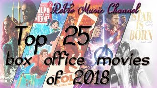 Top 25 best movies of 2018. (domestic box office list of highest grossing films)