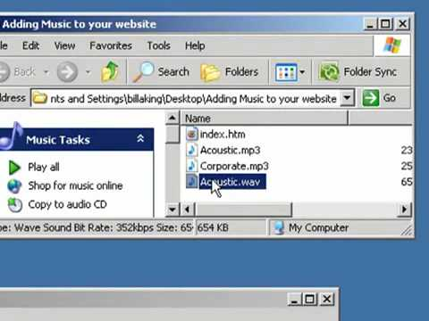 Adding Background Music To Your Web Site using Notepad - YouTube ...