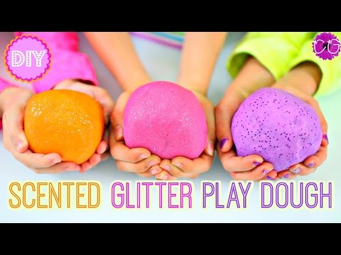 SCENTED GLITTER PLAY DOUGH!  EASY DIY PLAY DOH!