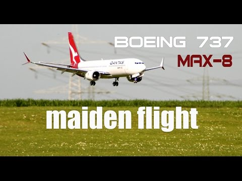 Qantas- Boeing 737 MAX-8 RC airplane maiden flight