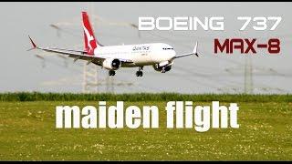 Video Qantas- Boeing 737 MAX-8 RC airplane maiden flight download MP3, 3GP, MP4, WEBM, AVI, FLV Agustus 2018