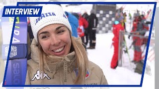 Francesca Marsaglia dopo il 1° podio in Coppa del Mondo