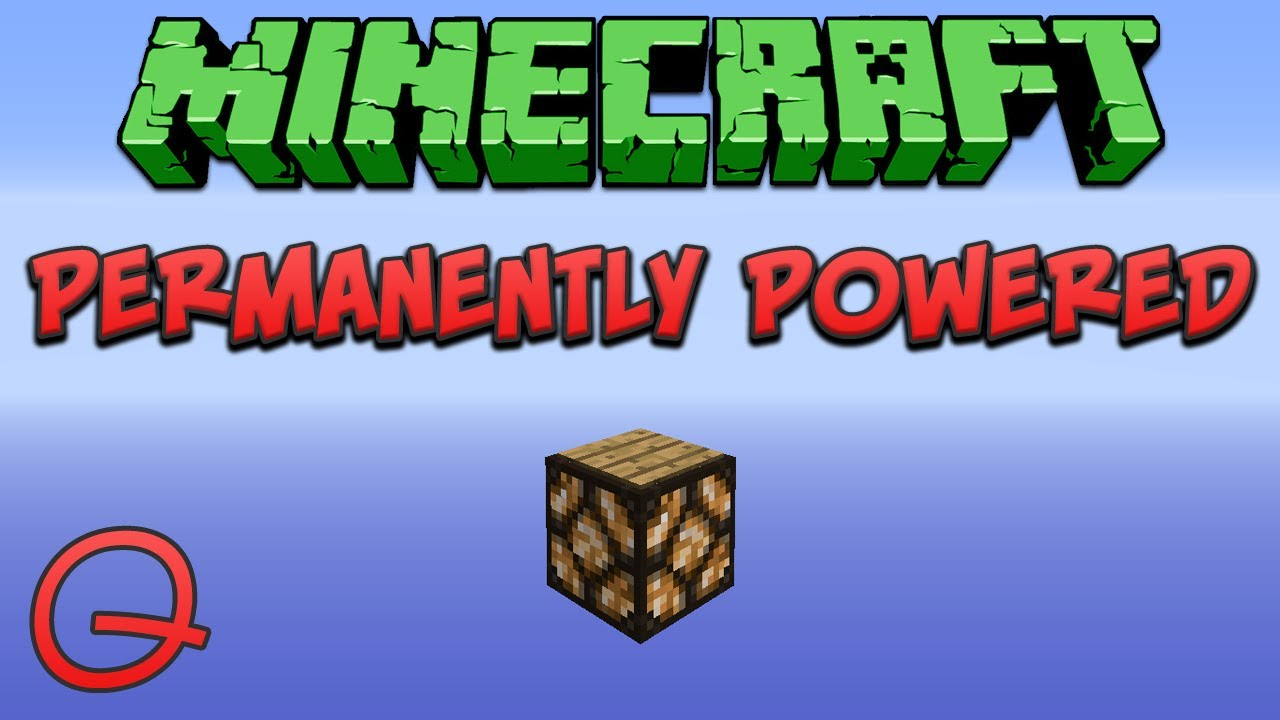 Minecraft: Permanently Powered Redstone Lamp (Quick) Tutorial