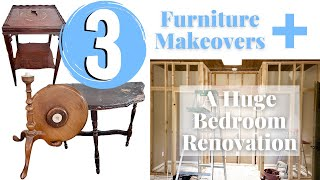 3 Table Makeovers, Shopping Haul, PLUS A Bedroom Renovation