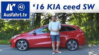 2016 KIA cee'd SW 1.6 CRDi DCT Spirit - Fahrbericht der Probefahrt , Test, Review Ausfahrt.tv