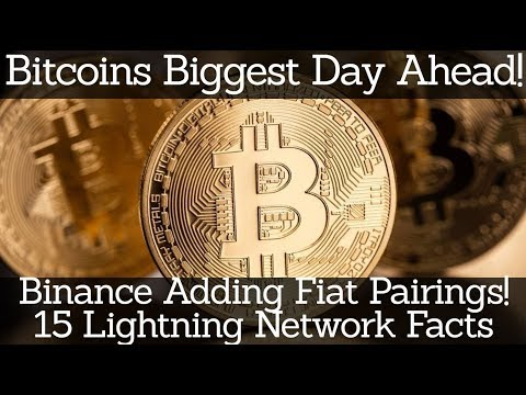 Crypto News | Bitcoins Biggest Day Ahead! Binance Adding Fiat Pairings! 15 Lightning Network Facts