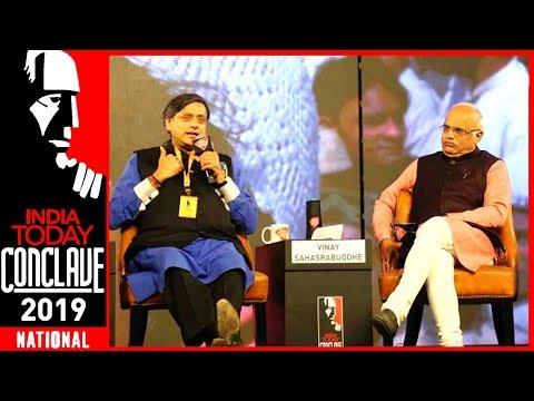 Exclusive : Shashi Tharoor Vs Vinay Sahasrabuddhe On Hinduism & Hindutva | India Today Conclave 2019