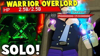 Defeating NEW *WARRIOR OVERLORD* BOSS SOLO in The Canals! | Roblox Dungeon Quest (Update)