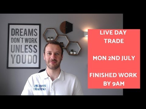 Live Day Trade – Finished by 9am – 2nd July