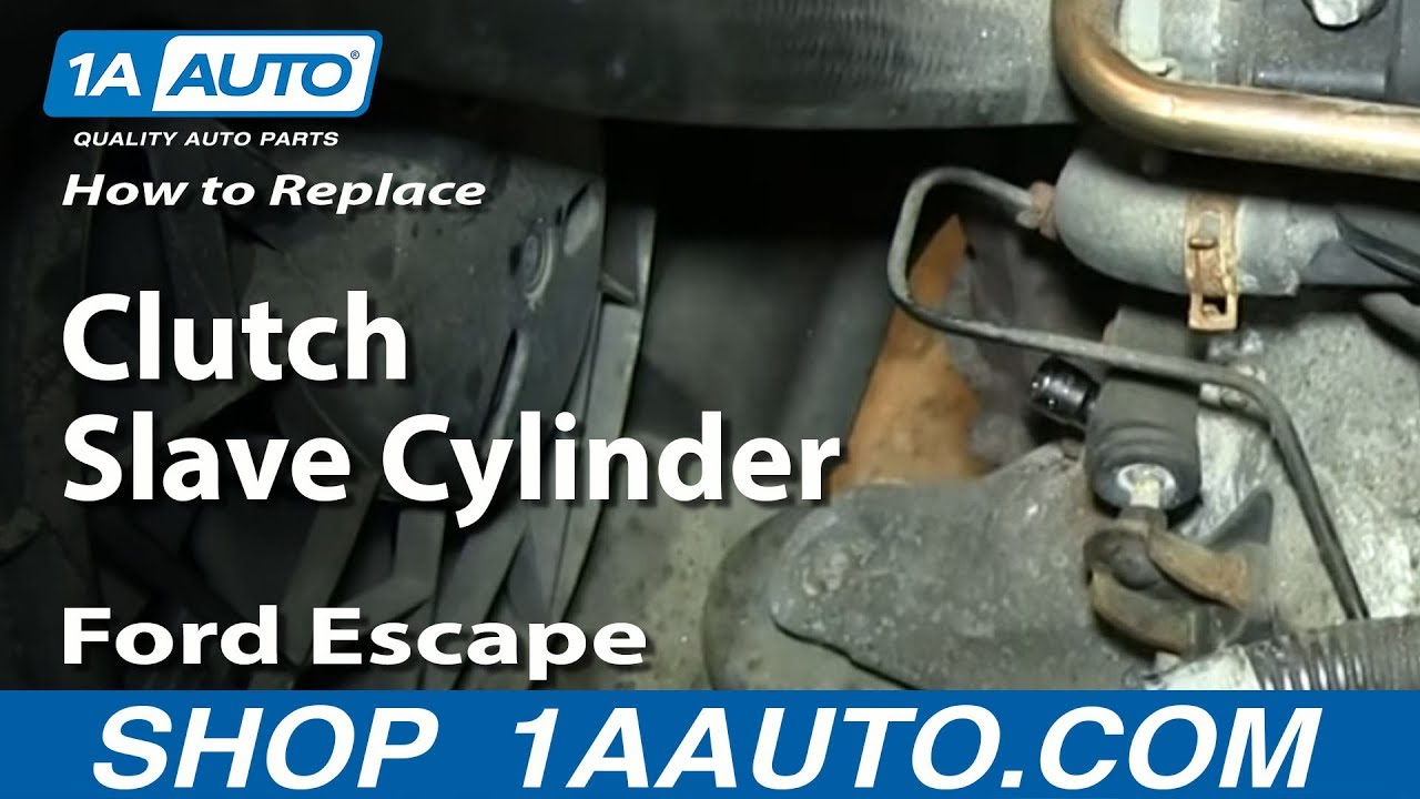 How To Install Replace Clutch Slave Cylinder 2002 05 Ford Escape Youtube