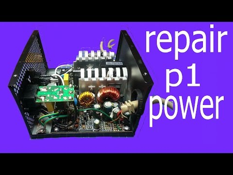 computer power supply repair, Part 1  PC loses power