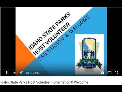 Idaho State Parks Host Volunteer - Orientation & Welcome
