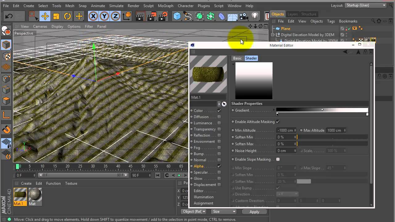 Mapping DEM Data in Maxon Cinema 4D - Toolfarm