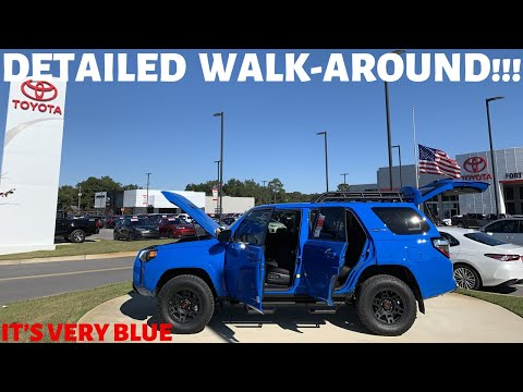 2019 VOODOO BLUE TOYOTA 4RUNNER TRD PRO DETAILED WALK AROUND / REVIEW