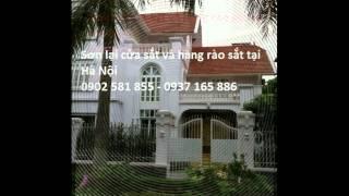 Sơn lại song sắt, Sơn lan can sắt, cổng sắt, cửa sắt tại Hà Nội 0981 511 068