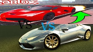 FERRARI F40 VS LAMBORGHINI HURACAN | Roblox Vehicle Simulator