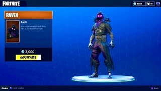 "NEW ""RAVEN"" OUTFIT (Legendary Raven Skin) - Fortnite Battle Royale"
