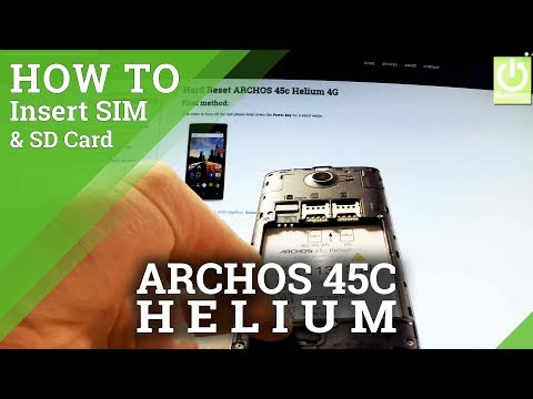 ARCHOS 45c Helium 4G INSERT SIM & SD - SIM and SD Instructions