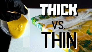 Acrylic Pouring - Thick Vs Thin Paint Recipes - Fluid Paints - Beginner - Pouring - Fluid Art!