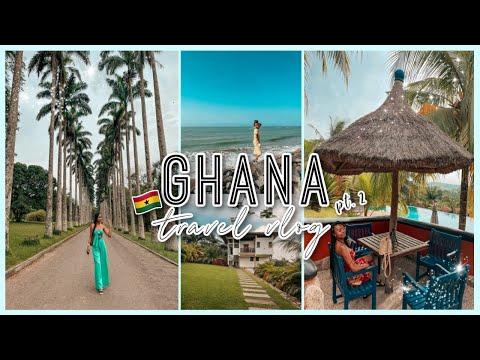 WE THINK WE WANT TO MOVE TO GHANA!| Ghana Travel Vlog PT 2| Aburi Gardens, Cape Coast, Lemon Beach
