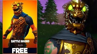BUYING THE NEW BATTLE HOUND SKIN IN FORTNITE!!