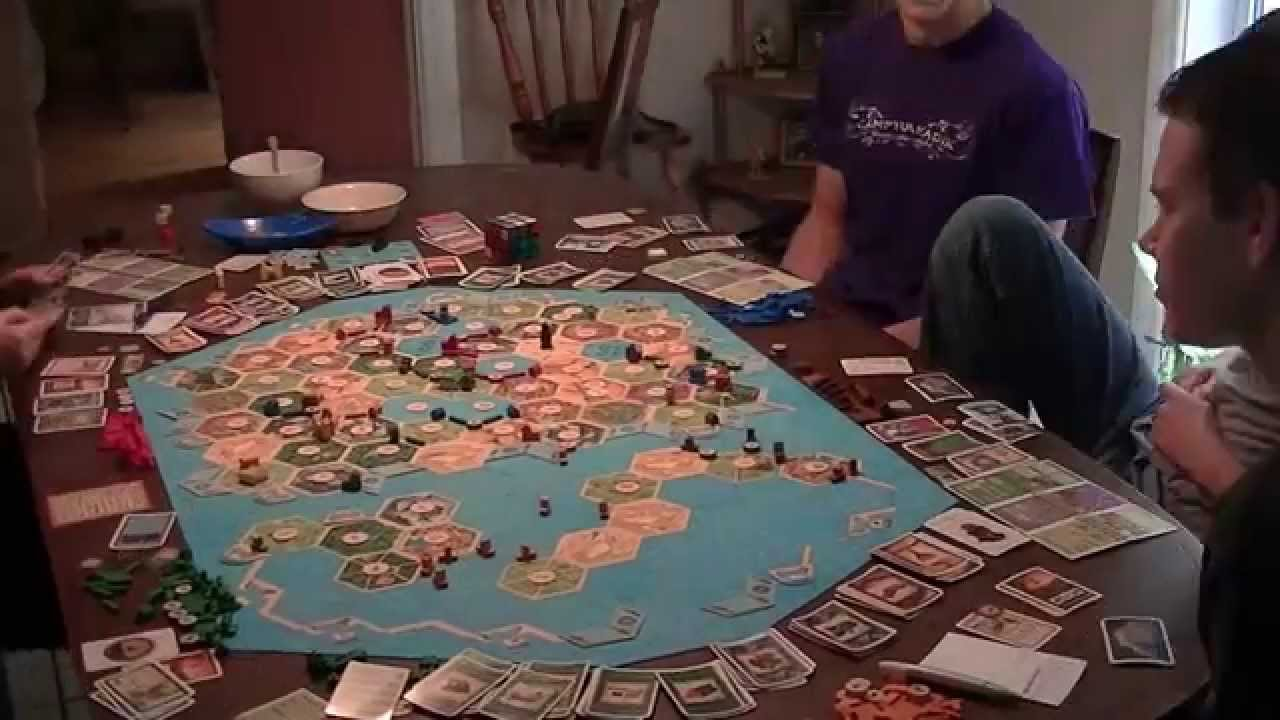 Massive Quot Settlers Of Catan Quot Game Timelaspe Hd Youtube
