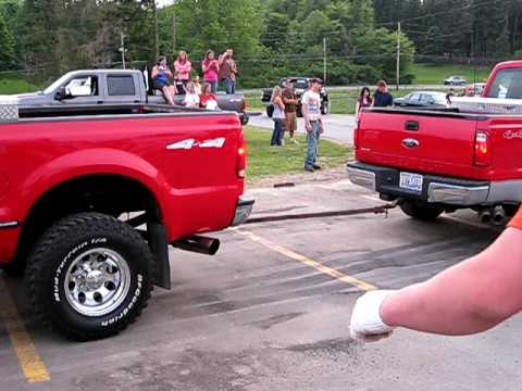 ford pickup truck pull - ohio redneck truck pull - its more fun when they break!