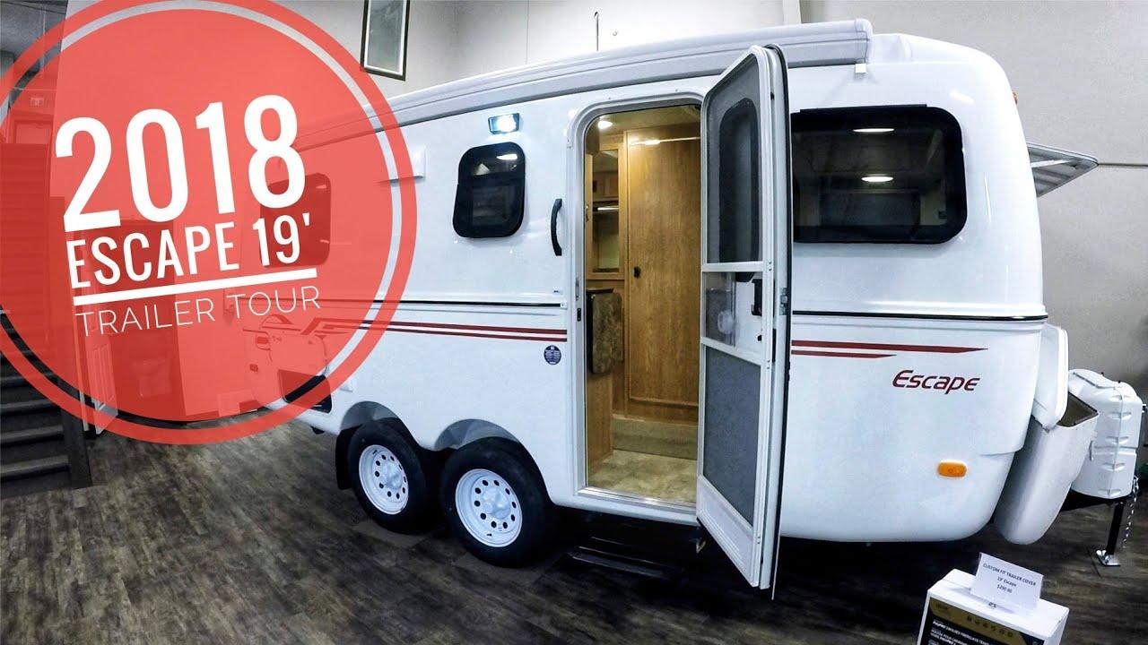 2018 Escape 19' Molded Fiberglass Trailer Tour (146)