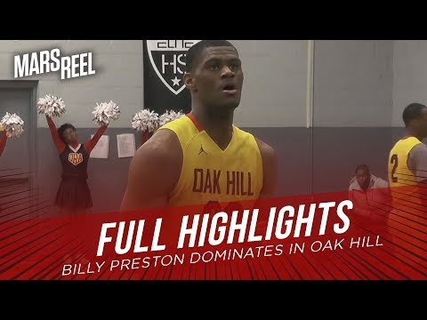 Billy Preston DOMINATES In Oak Hill 114-41 BLOWOUT WIN! | FULL HIGHLIGHTS